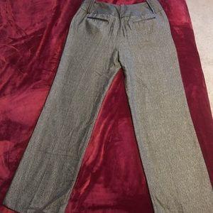 Black & white silky work career pants 12 wider leg